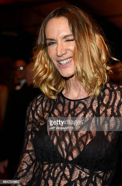Actress Kelly Lynch attends the 2015 Vanity Fair Oscar Party hosted by Graydon Carter at the Wallis Annenberg Center for the Performing Arts on...