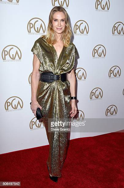 Actress Kelly Lynch attends the 27th Annual Producers Guild Awards at the Hyatt Regency Century Plaza on January 23, 2016 in Century City, California.