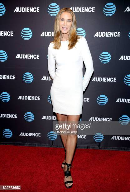 Actress Kelly Lynch attends the ATT AUDIENCE Network premiere of Mr Mercedes during the ATT AUDIENCE Network Summer 2017 TCA Panel at The Beverly...