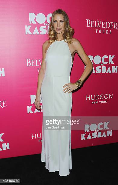 Actress Kelly Lynch attends the Rock The Kasbah New York premiere at AMC Loews Lincoln Square on October 19 2015 in New York City
