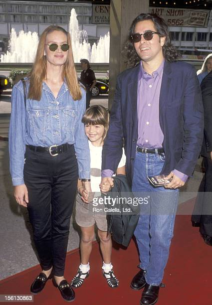 Actress Kelly Lynch husband Mitch Glazer and daughter Shane Glazer attend the 'Home Alone 2 Lost in New York' Century City Premiere on November 15...