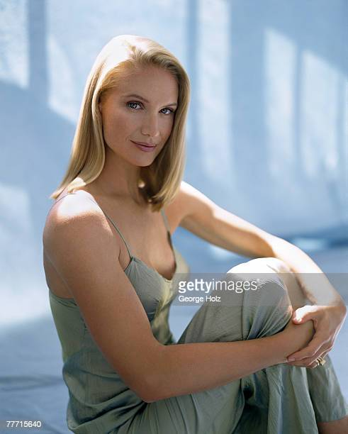 Actress Kelly Lynch is photographed for New Woman Magazine on August 11 1997 in Los Angeles California