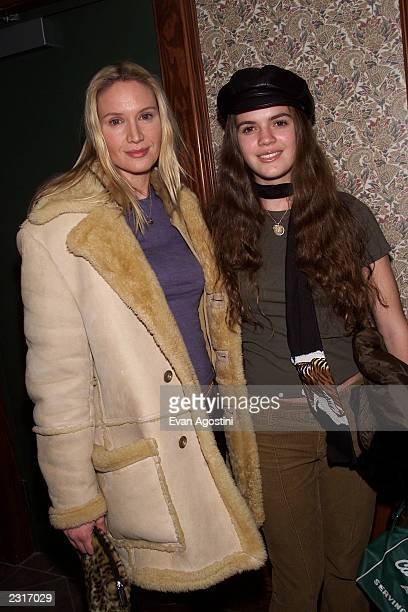 Actress Kelly Lynch with daughter Shane at the party for the film Secretary at Lakota Restaurant at the 2002 Sundance Film Festival in Park City Utah...