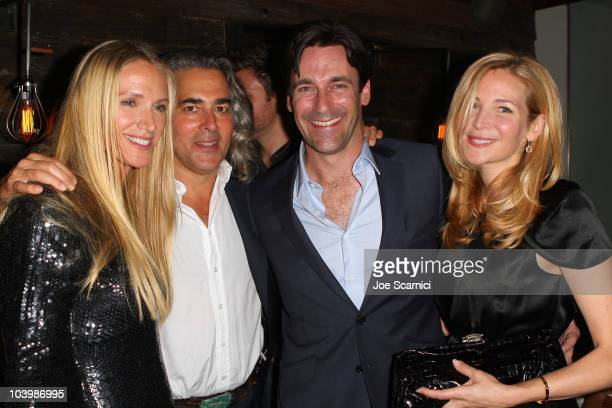 Actress Kelly Lynch writer/Director Mitch Glazer actor Jon Hamm and actress Jennifer Westfeldt attend the exclusive after party for Passion Play...