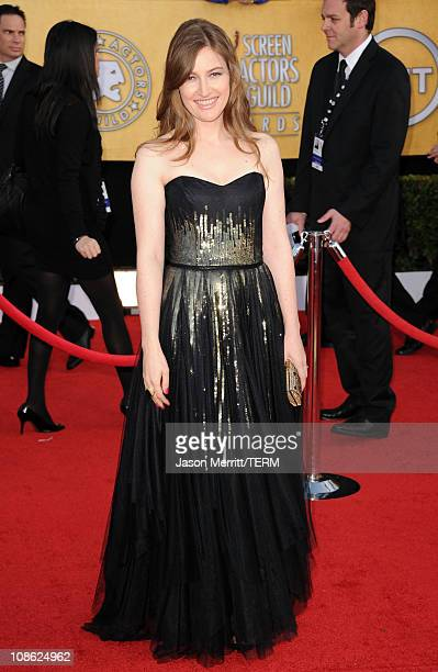 Actress Kelly Macdonald arrives at the 17th Annual Screen Actors Guild Awards held at The Shrine Auditorium on January 30 2011 in Los Angeles...