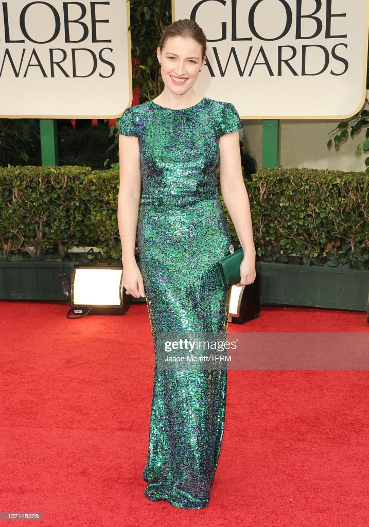Actress Kelly MacDonald arrives at the 69th Annual Golden Globe Awards held at the Beverly Hilton Hotel on January 15, 2012 in Beverly Hills, California.
