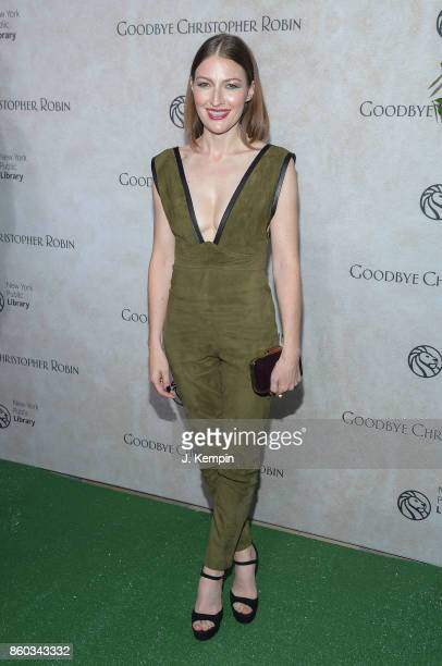 Actress Kelly Macdonald attends the Good Bye Christopher Robin New York Special Screening at The New York Public Library on October 11 2017 in New...