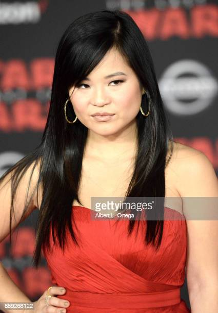 Actress Kelly Marie Tran arrives for the Premiere Of Disney Pictures And Lucasfilm's 'Star Wars The Last Jedi' held at The Shrine Auditorium on...