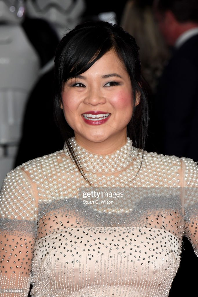 Actress Kelly Marie Tran attends the European Premiere of 'Star Wars: The Last Jedi' at Royal Albert Hall on December 12, 2017 in London, England.