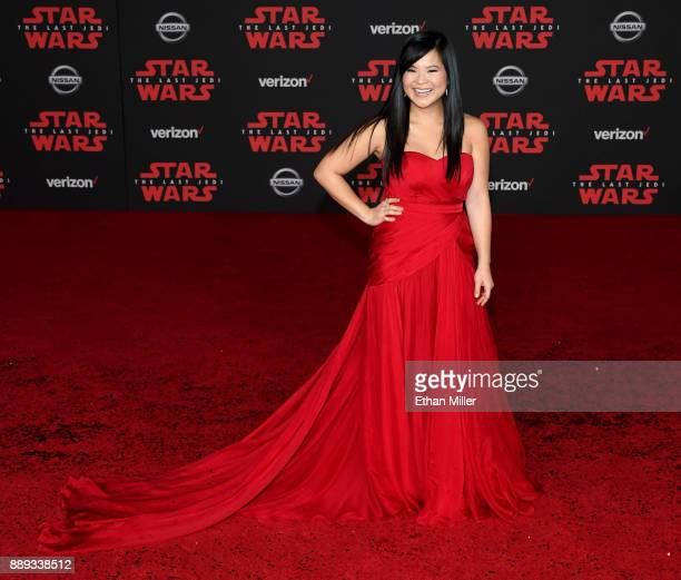 Actress Kelly Marie Tran attends the premiere of Disney Pictures and Lucasfilm's 'Star Wars The Last Jedi' at The Shrine Auditorium on December 9...