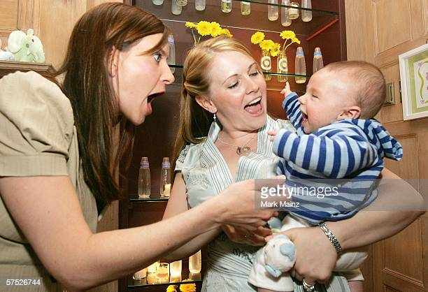 Actress Kelly Marsh Melissa Joan Hart and her son Mason Walter Wilkerson attends the party to celebrate Jane Buckingham's new novel at the Beverly...
