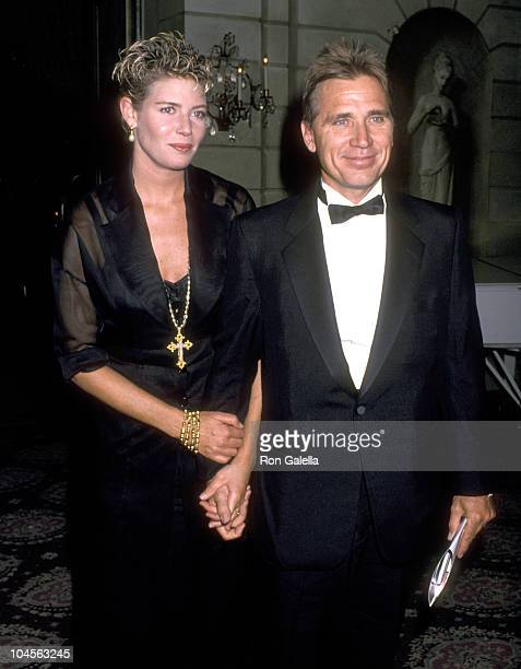 Actress Kelly McGillis and husband Fred Tillman attend The Acting Company's John Houseman Awards Gala on April 17 1989 at Pierre Hotel in New York...