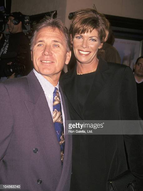 Actress Kelly McGillis and husband Fred Tillman attend the At First Sight Westwood Premiere on January 12 1999 at Mann Bruin Theatre in Westwood...