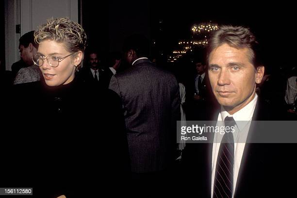 Actress Kelly McGillis and husband Fred Tillman attend the ProChoice Rally Weekend on April 9 1989 at Capitol Hill in Washington DC