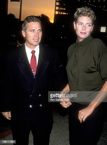 Actress Kelly McGillis and husband Fred Tillman attend the 'Winter People' Century City Premiere on April 13 1989 at Cineplex Odeon Cinemas in...