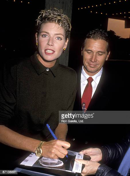 Actress Kelly McGillis and husband Fred Tillman attend the Winter People Century City Premiere on April 13 1989 at Cineplex Odeon Cinemas in Century...