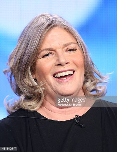 Actress Kelly McGillis speaks onstage during the 'Love Finds You in Sugar Creek, Ohio' panel discussion at the UP portion of the 2014 Winter...