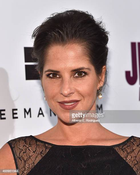 Actress Kelly Monaco arrives to the Los Angeles premiere of 'Jimi All Is By My Side' at ArcLight Cinemas on September 22 2014 in Hollywood California