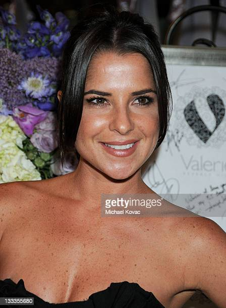 Actress Kelly Monaco attends the 2009 Emmy Awards Party hosted by Valerie Sarnelle at Valerie Beverly Hills on September 16 2009 in Beverly Hills...