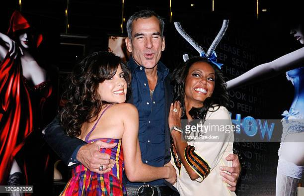 Actress Kelly Monaco director Jerry Mitchell and actress Melanie Brown pose for photos following a news conference announcing the new production...