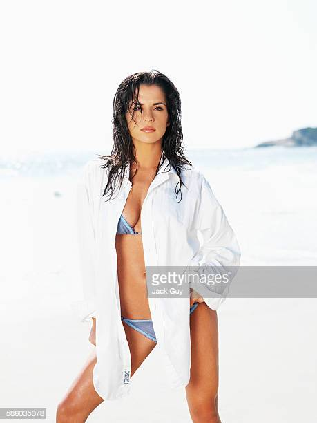 Actress Kelly Monaco is photographed for OK Magazine on August 13 2005 in Los Angeles California