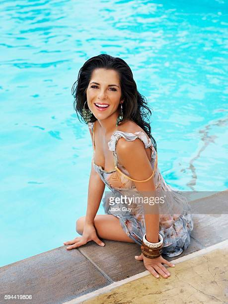 Actress Kelly Monaco is photographed for OK Magazine on August 13 2005 in Los Angeles California PUBLISHED IMAGE
