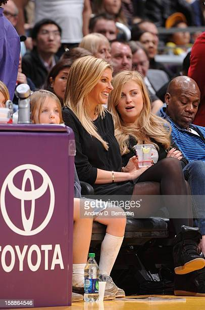 Actress Kelly Noonan attends a game between the Philadelphia 76ers and the Los Angeles Lakers at Staples Center on January 1 2013 in Los Angeles...