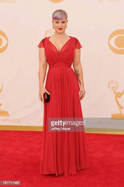 Actress Kelly Osbourne arrives at the 65th Annual Primetime Emmy Awards at Nokia Theatre LA Live on September 22 2013 in Los Angeles California