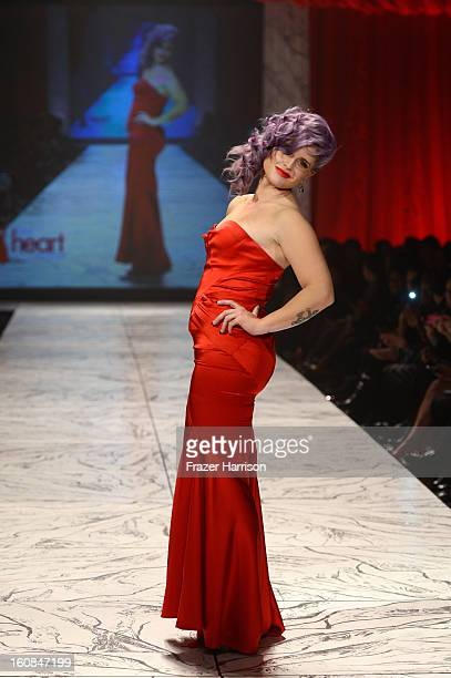 Actress Kelly Osbourne walks the runway at The Heart Truth 2013 Fashion Show at Hammerstein Ballroom on February 6 2013 in New York City