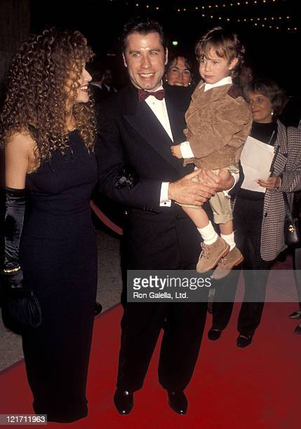 Actress Kelly Preston actor John Travolta and actor Lorne Sussman attend the Look Who's Talking Too Century City Premiere on December 13 1990 at...