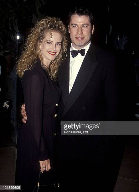 Actress Kelly Preston and actor John Travolta attend the 1992 Carousel of Hope Ball to Benefit the Barbara Davis Center for Childhood Diabetes on...
