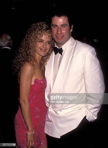 Actress Kelly Preston and actor John Travolta attend the NAACP Los Angeles Chapter's Ninth Annual Roy Wilkins Award Salute to Eddie Murphy on July 19...