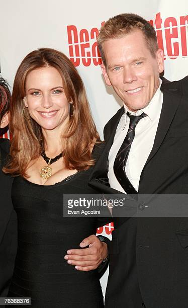 Actress Kelly Preston and actor Kevin Bacon attend the premiere of Twentieth Century Fox's 'Death Sentence' at the Tribeca Cinemas on August 28 2007...