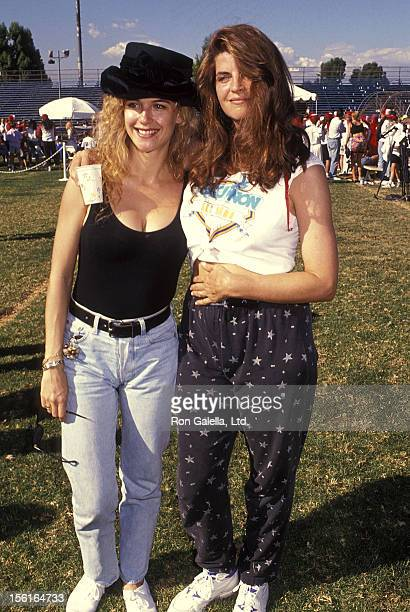 Actress Kelly Preston and Kirstie Alley attend the Narconon's 12th Annual AllStars Celebrity Softball Game for a DrugFree Society on September 28...