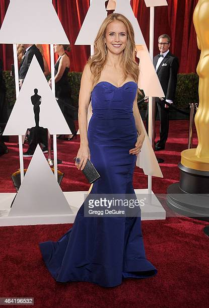Actress Kelly Preston arrives at the 87th Annual Academy Awards at Hollywood Highland Center on February 22 2015 in Hollywood California