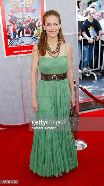 """Actress Kelly Preston arrives at the Disney premiere of """"Sky High"""" at the El Capitan Theatre on July 24, 2005 in Hollywood, California."""