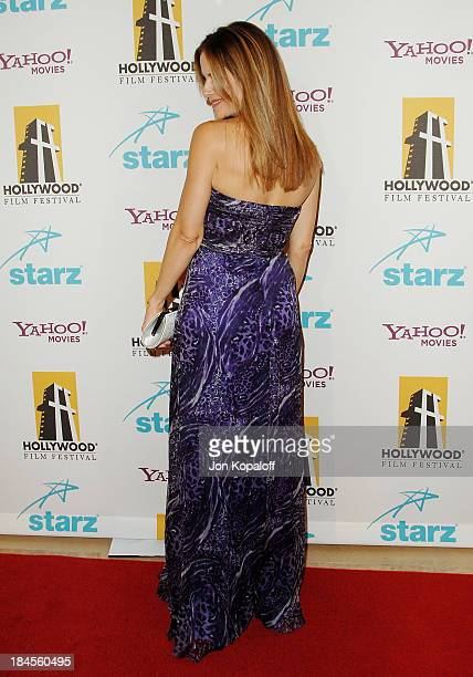 Actress Kelly Preston arrives at the Hollywood Film Festival's Hollywood Awards at the Beverly Hilton Hotel on October 22 2007 in Beverly Hills...