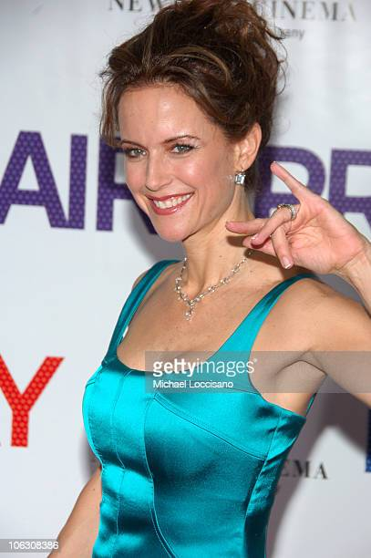 Actress Kelly Preston arrives at the New York premiere of Hairspray at The Ziegfeld on July 16 2007 in New York