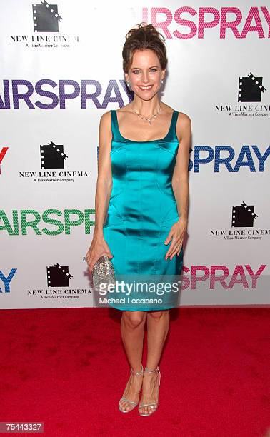 Actress Kelly Preston arrives at the New York premiere of 'Hairspray' at The Ziegfeld on July 16 2007 in New York