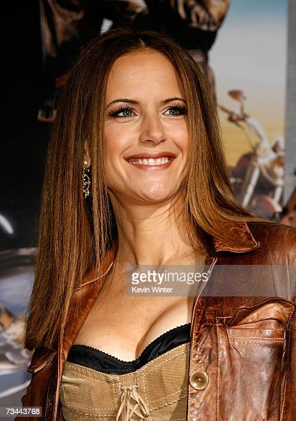 Actress Kelly Preston arrives at the premiere of 'Wild Hogs' at the El Capitan Theater on February 27 2007 in Hollywood California