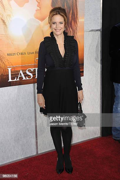Actress Kelly Preston arrives at the 'The Last Song' Los Angeles premiere held at ArcLight Hollywood on March 25 2010 in Hollywood California