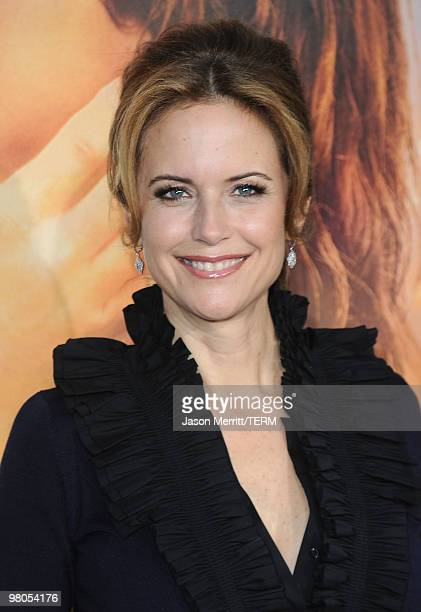 Actress Kelly Preston arrives at the The Last Song Los Angeles premiere held at ArcLight Hollywood on March 25 2010 in Hollywood California