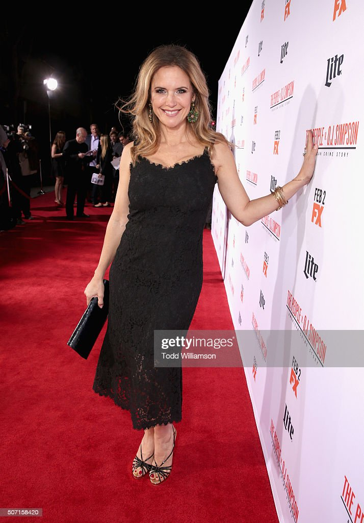 Actress Kelly Preston attends premiere of FX's 'American Crime Story - The People V. O.J. Simpson' at Westwood Village Theatre on January 27, 2016 in Westwood, California.