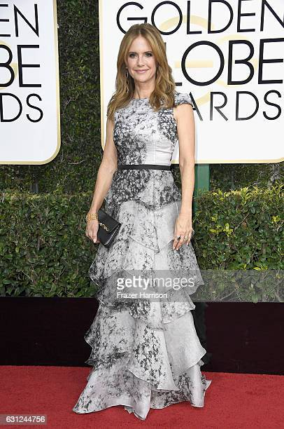 Actress Kelly Preston attends the 74th Annual Golden Globe Awards at The Beverly Hilton Hotel on January 8 2017 in Beverly Hills California