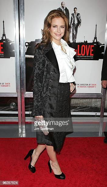 Actress Kelly Preston attends the 'From Paris With Love' premiere at the Ziegfeld Theatre on January 28 2010 in New York City