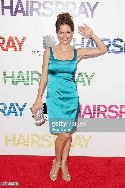 Actress Kelly Preston attends the 'Hairspray' premiere presented by New Line Cinema at the Ziegfeld Theatre on July 16 2007 in New York City