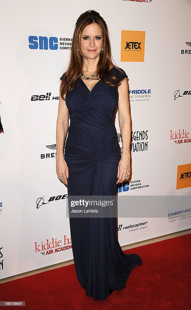 Actress Kelly Preston attends the Living Legends of Aviation Awards at The Beverly Hilton Hotel on January 18, 2013 in Beverly Hills, California.
