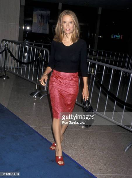 Actress Kelly Preston attends 'The Love Letter' Century City Premiere on May 13 1999 at Cineplex Odeon Century Plaza Cinemas in Century City...