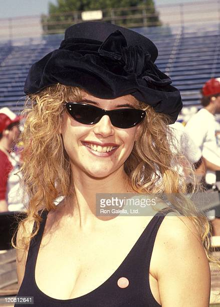 Actress Kelly Preston attends the Narconon's 12th Annual AllStars Celebrity Softball Game for a DrugFree Society on September 28 1991 at Tom Bradley...