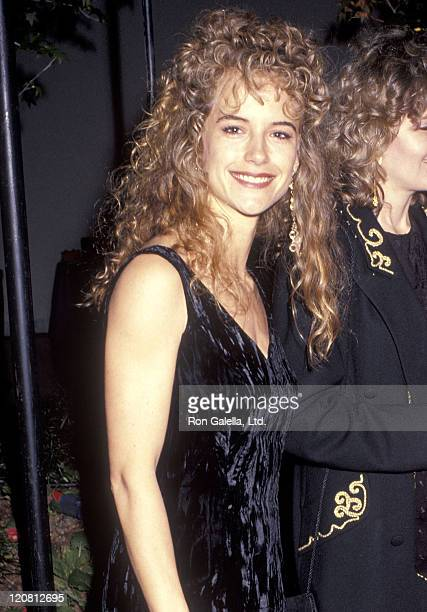Actress Kelly Preston attends the Party to Celebrate Hiro Yamagata's New Art Book 'Yamagata' on April 15 1991 at Armand Hammer Museum in Westwood...